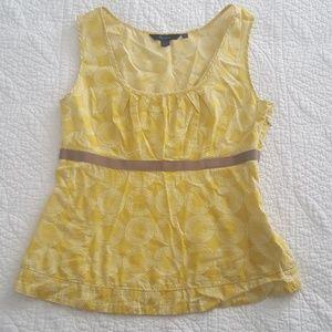 Boden Sleeveless Cotton Top Yellow Circles US 6